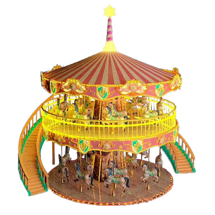 38 Seats Double Carousel Ride HFDC04